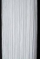 Шторы нити LUX (Густая) однотонные Белые № 1
