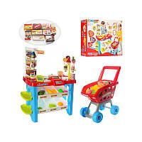 Игровой набор Супермаркет касса детский магазин  668-22 с тележкой и продуктами