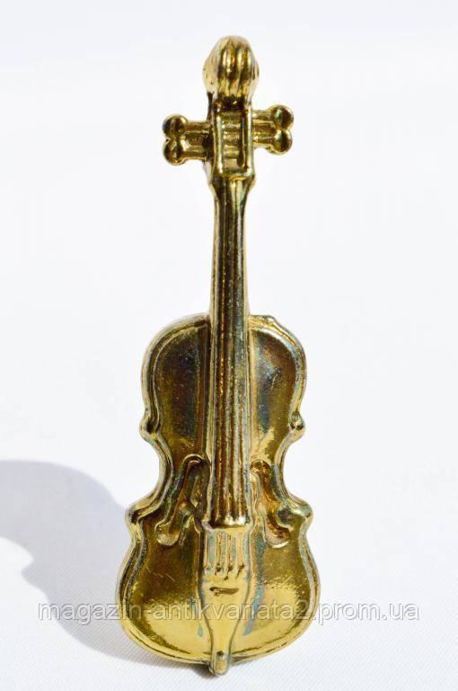 Коллекционная миниатюра,скрипка! Латунь! England!