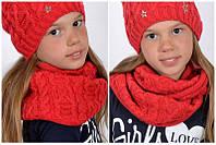 Вязанный шарф-снуд Канди, двойное кольцо