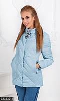 Красиваяженская куртка прямого фасона на молнии с брошьюплащевка