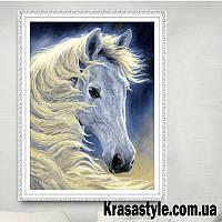 Алмазная вышивка Белая лошадь