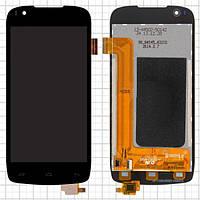 Дисплей (экран) для Fly iQ4405 Evo Chic 1 с сенсором (тачскрином) черный