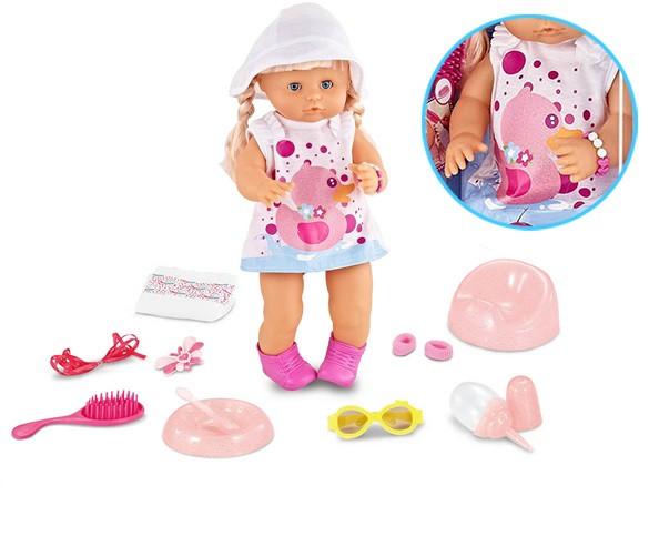 Кукла Warm Baby, пупс Lovely Baby с аксессуарами., фото 1