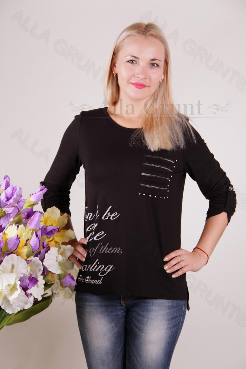 Блуза-туника трикотажная 400-осн820-162 полубатал оптом от производителя Украина