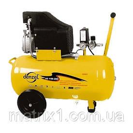 Компрессор пневматический, 1,5 кВт, 206 л/мин, 50 л// DENZEL
