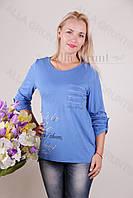 Блуза-туника трикотажная 425-осн820-162 полубатал оптом от производителя Украина