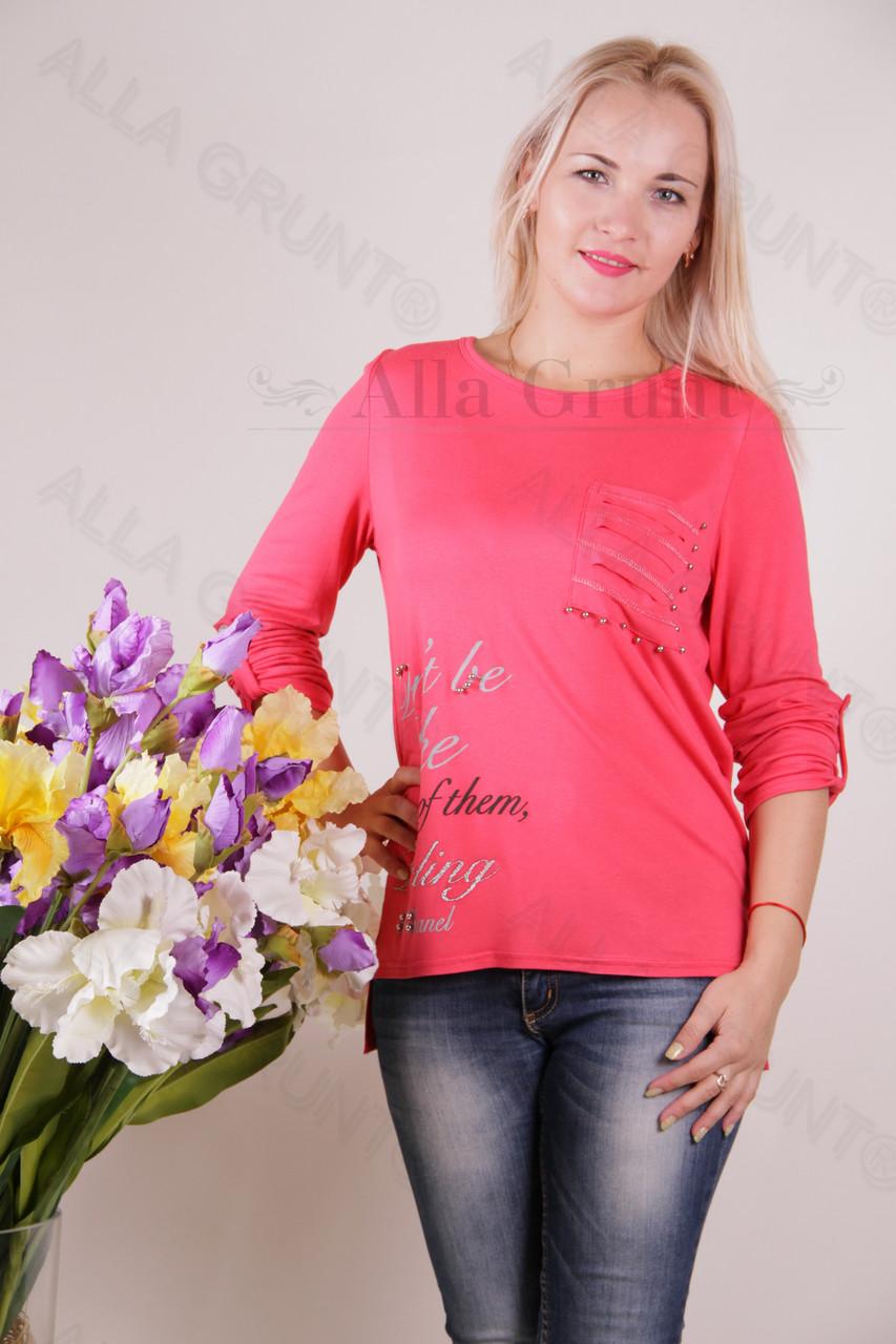 Блуза-туника трикотажная 420-осн820-162 полубатал оптом от производителя Украина