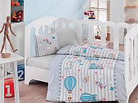 Комплект постельного белья для новорожденных Cotton Box Gezgin Mavi