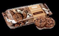 Сахарное печенье Эсмеральда шоколадное c кусочками шоколадной глазури, 150 г