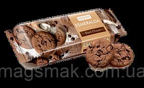 Сахарное печенье Эсмеральда с какао и кусочками шоколадной глазури, 150 г
