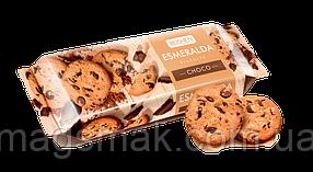 Сдобное печенье Эсмеральда с кусочками шоколадной глазури, 150 г