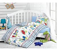 Комплект постельного белья для новорожденных Cotton Box Dino Mavi