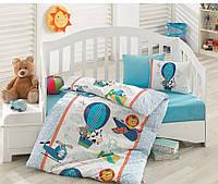 Комплект постельного белья для новорожденных Cotton Box Ucan Dostlar Mavi