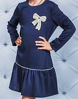 Детское нарядное синее платье 122-158р