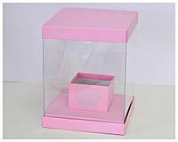Пластиковая квадратная коробка 20*20*25 см.