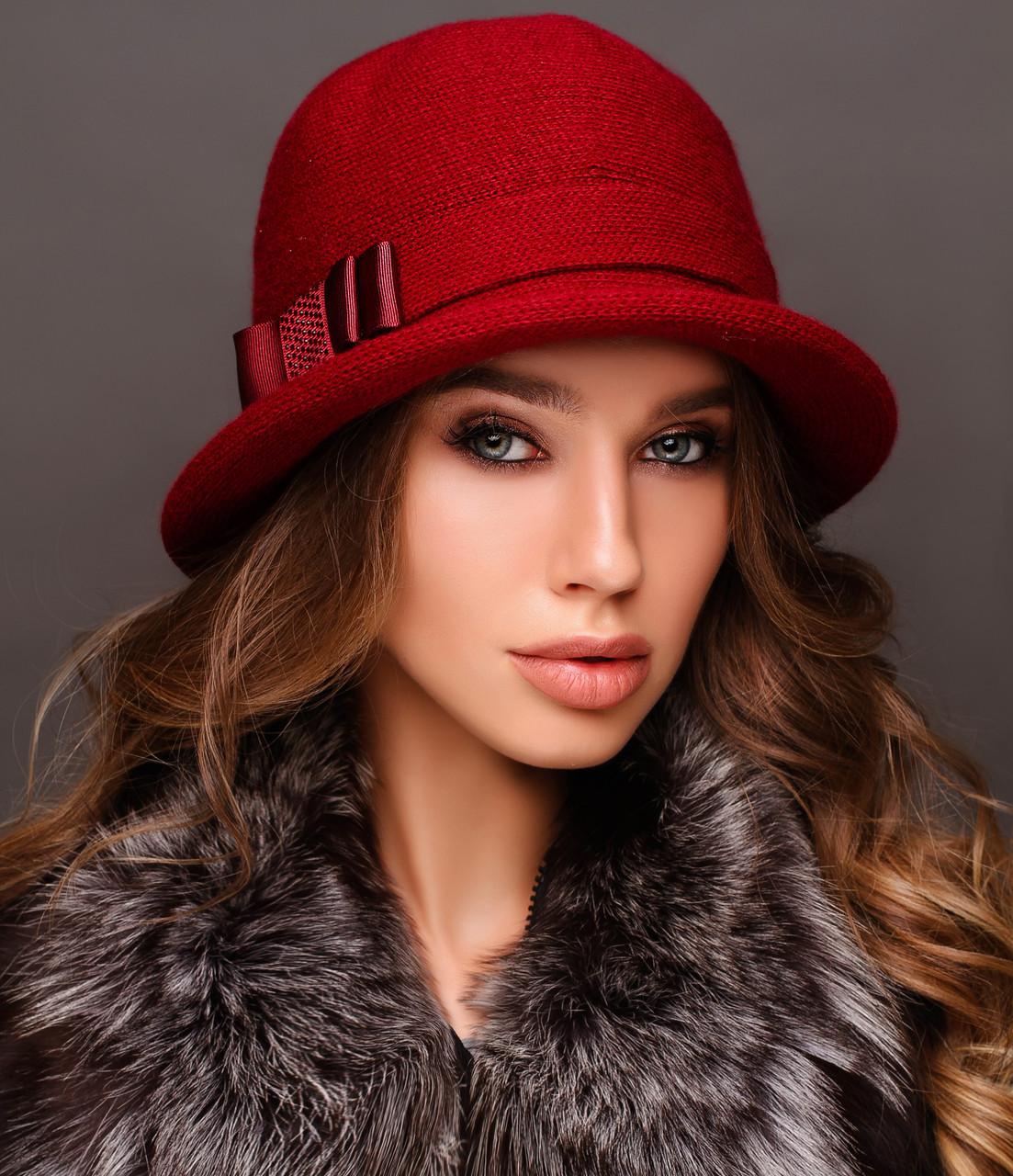 Шляпа цвет бордо