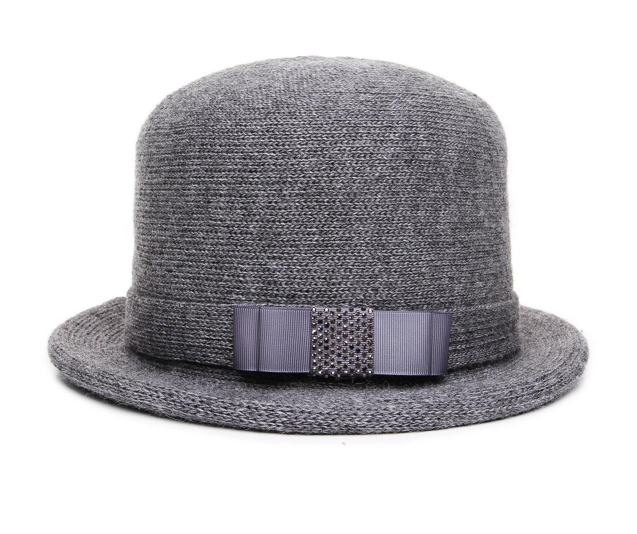 Шляпа цвет серый