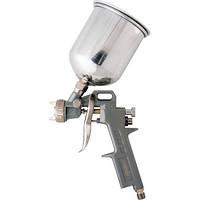 Краскораспылитель пневмат. с верхним бачком V= 0,6 л + сопла диаметром 1.2, 1.5 и 1.8 мм// MTX