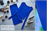 Трикотажный костюм-двойка топ и юбка
