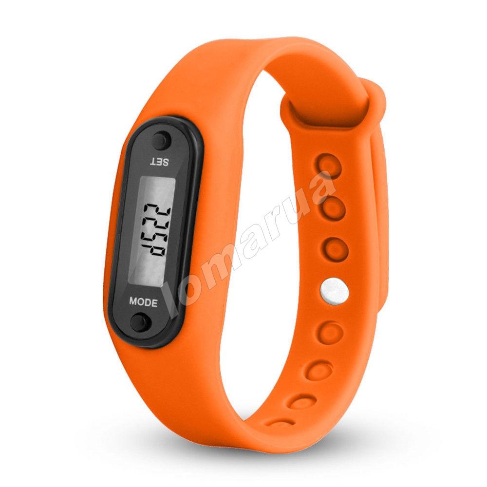 Фитнес браслет часы шагомер счетчик калорий II Orange