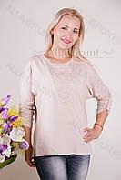Блуза-туника трикотажная 401-осн824 полубатал оптом от производителя Украина