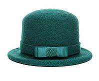 Шляпа цвет изумруд