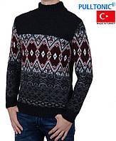 Зимний теплый свитер с орнаментом Pulltonic