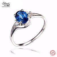 Серебряное кольцо с синим топазом 1910