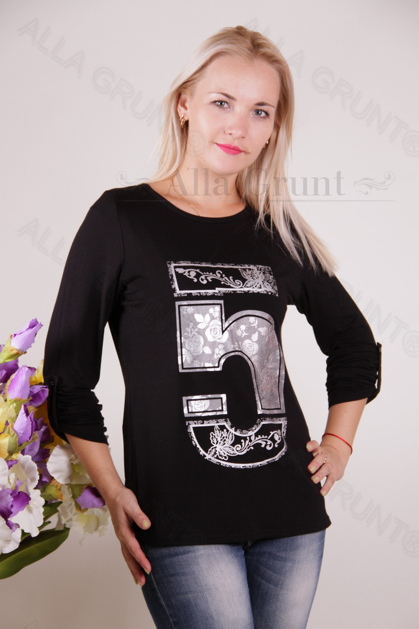 Блуза-туника трикотажная 400-осн800-141 норма оптом от производителя Украина