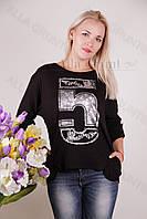 Блуза-туника трикотажная 400-осн830-141 полубатал оптом от производителя Украина