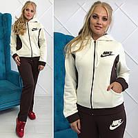 Женский теплый спортивный костюм Nike батал
