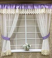 """Комплект штор """"Новая Англия"""", для кухонного окна"""