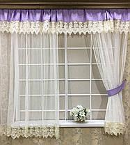 """Комплект штор """"Новая Англия"""", для кухонного окна, фото 3"""