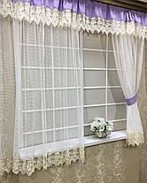 """Комплект штор """"Новая Англия"""", для кухонного окна, фото 2"""