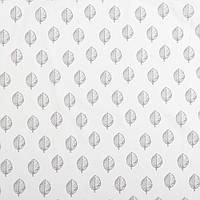 Бавовняна тканина Листочки тауп на молочному, фото 1