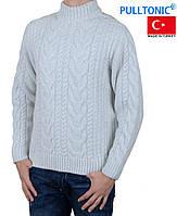 Тёплый вязанный мужской свитер Pulltonic большого размера