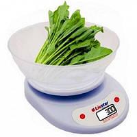 Весы кухонные круглые с чашей LIVSTAR, фото 1