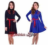 Женское платье с цветочной вышивкой. 2 цвета!