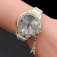 Изысканные женские часы со стразами и подвеской Eiffel Tour