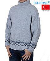 Свитер Pulltonic большого размера под горло.Теплый зимний свитер.