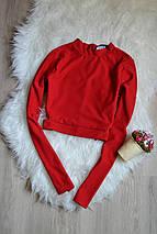 Красный укороченный топ с вырезами по бокам Missguided, фото 3