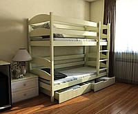 """Двухъярусная кровать трансформер """"Лакки"""" 70*140 буковый"""