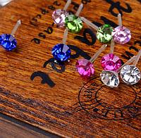 Цветные сережки-гвоздики