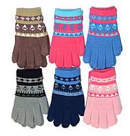 Детские трикотажные перчатки унисекс  - длина 15 см