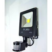 Светодиодный прожектор с датчиком движения (LED) 20W - матричный SLIM