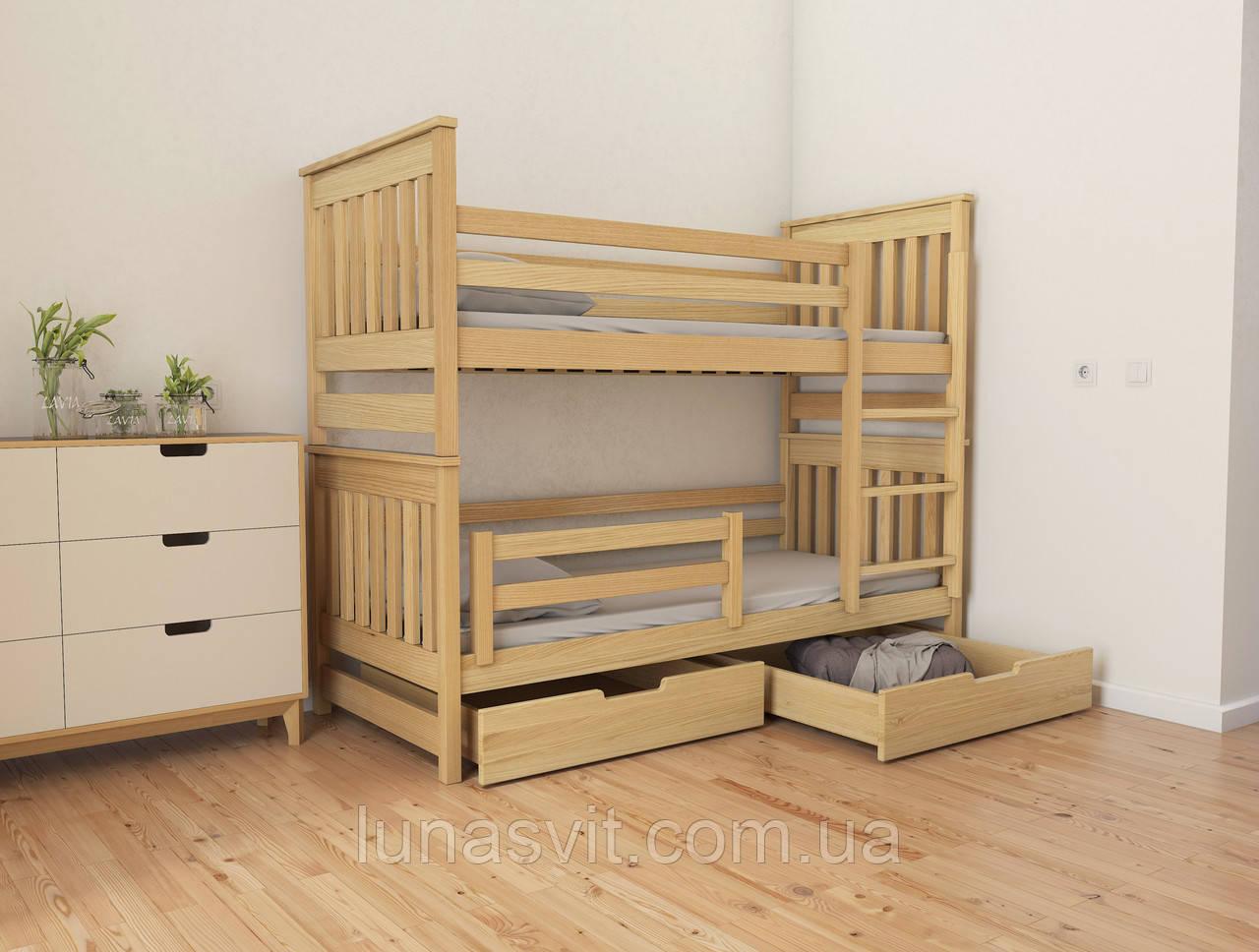 двухъярусная кровать трансформер адель Duo 70140 размеры дерево