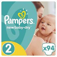Подгузники Pampers New Baby Mini 2 (3-6 кг) JUMBO PACK 94 шт.