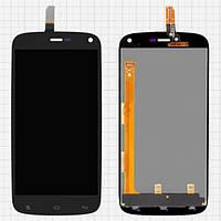 Дисплей (экран) для Fly iQ4410 Quad Phoenix/Gionee E3  + с сенсором (тачскрином) черный