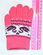 Детские трикотажные перчатки унисекс с лебедями  - длина 13 см, фото 4